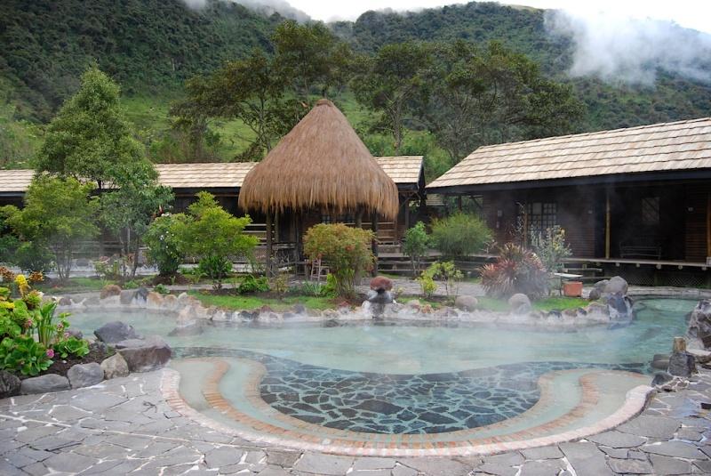Termas de Papallacta Spa & Resort, heiße Quellen vor derZimmertür