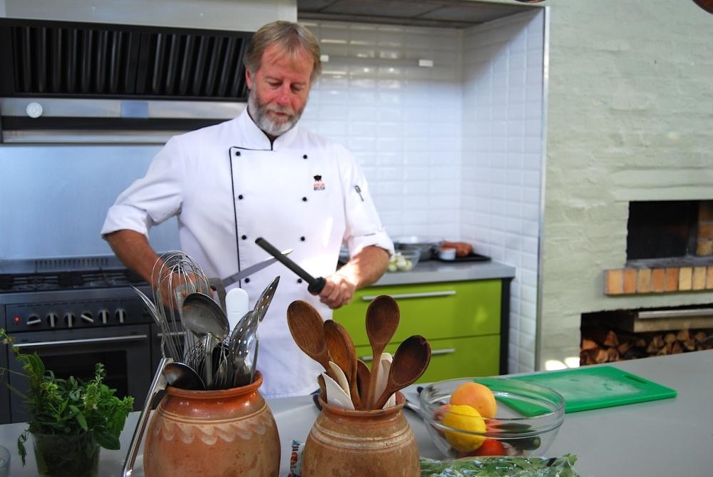 Scharfe Messer sind für Jeremy das A und O beim Kochen.
