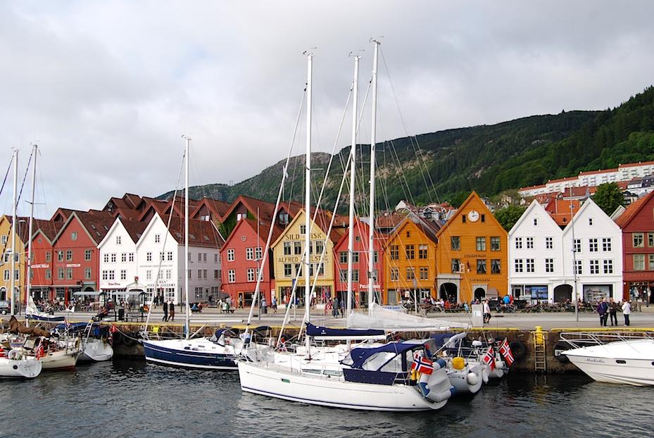 Norwegen Bergen Bryggen