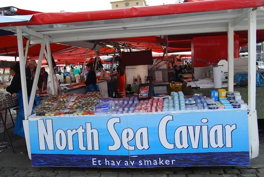 Norwegen Bergen Fischmarkt