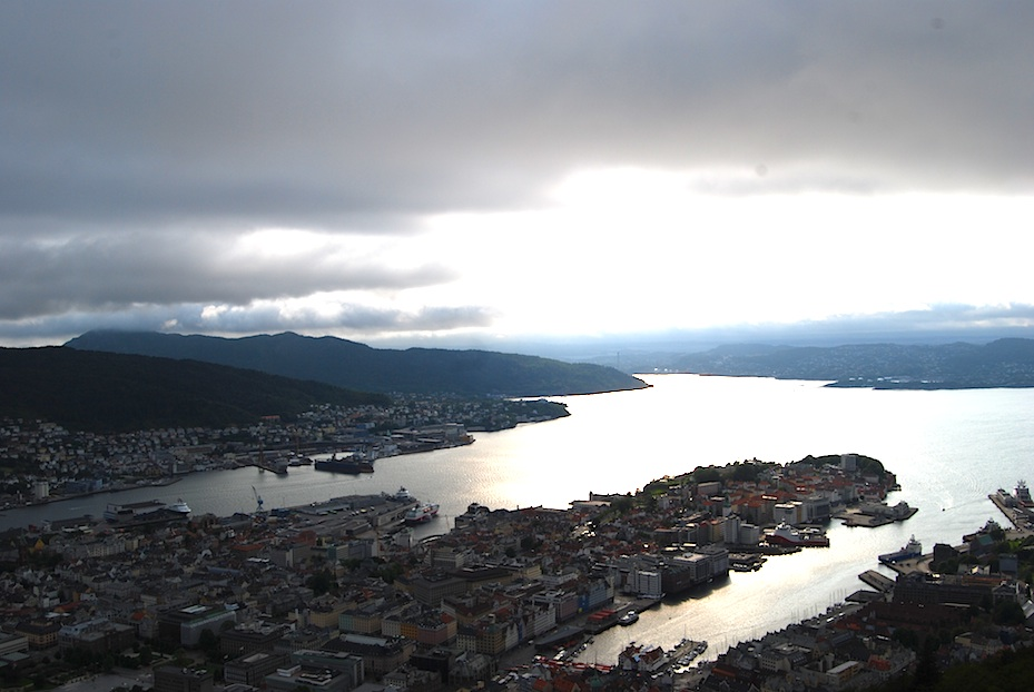 Norwegen Bergen Panorama