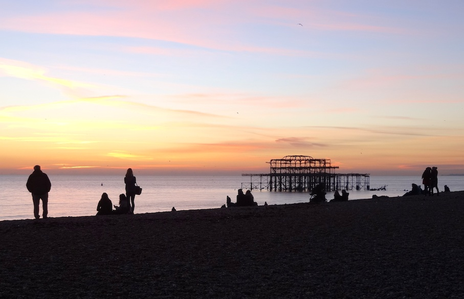 Brighton_Sonnenuntergang