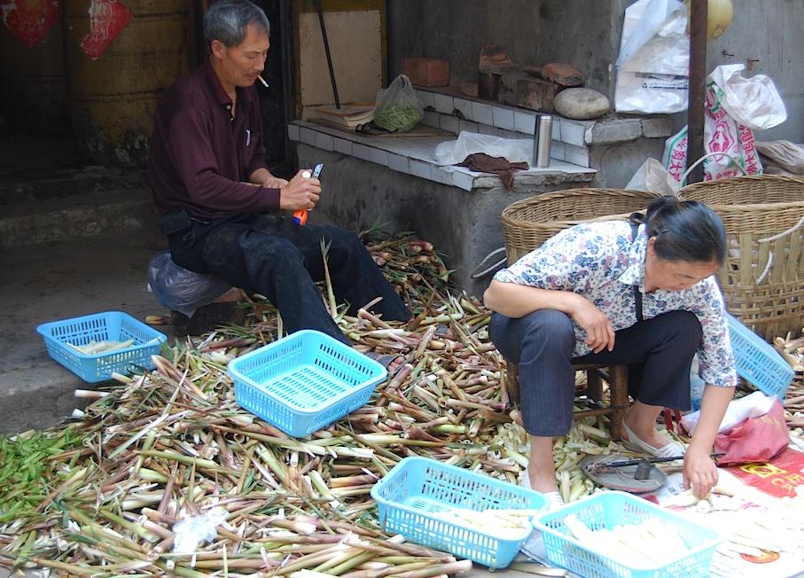 China_Sichuan_Markt_Bambus