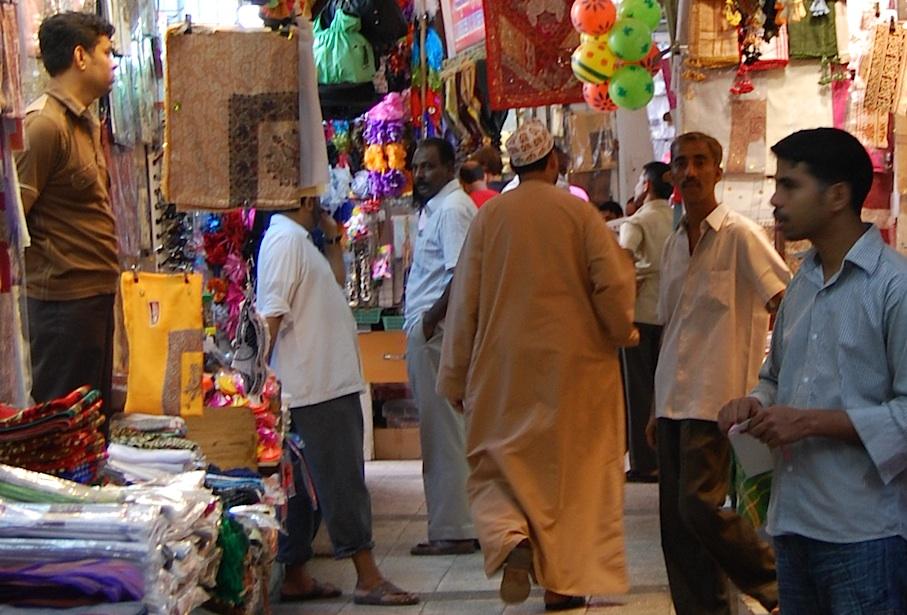 Oman_Muscat_Markt_Stoff