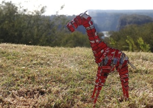 Simbabwe_Souvenir_Recycling_Kunst_Giraffe