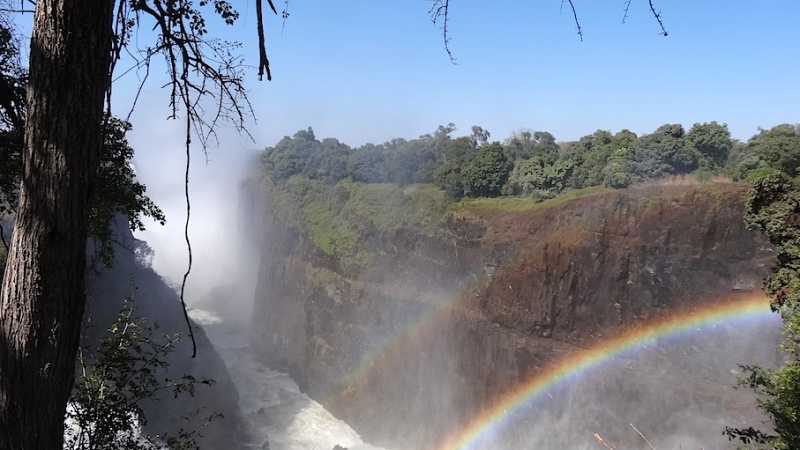 The Victoria Falls Hotel, Tea time im Angesicht des donnernden Rauchs