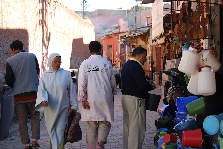 Marokko_Marrakesch_Markt_Gasse