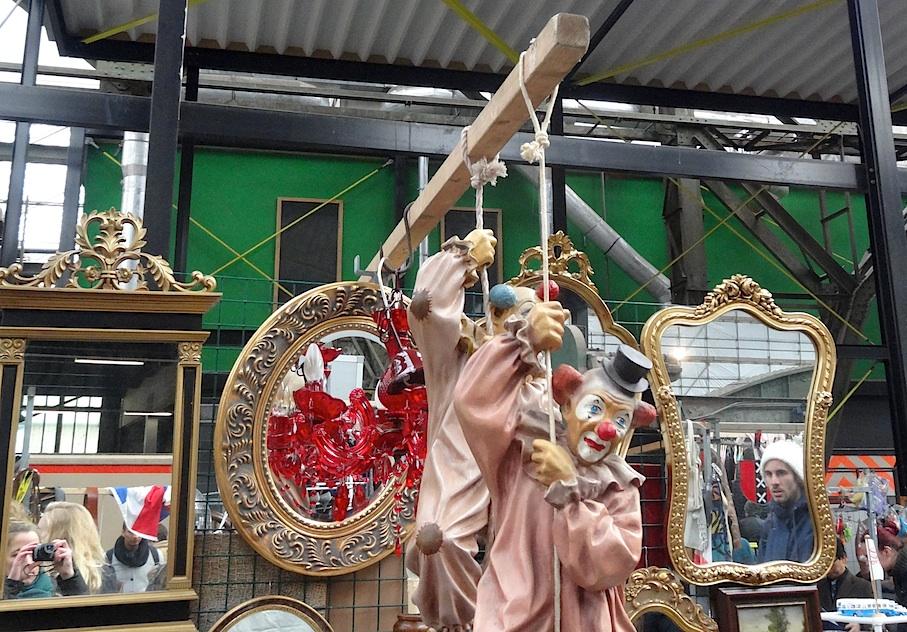 Amsterdam_Flohmarkt_IJ_Hallen_Clowns
